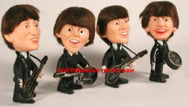 1964 Remco Beatles band dolls; Paul, John, Ringo, George