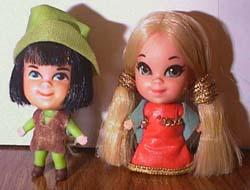 Liddle Kiddle Storybook Sweethearts 3785 Robin Hood & Maid Marion dolls