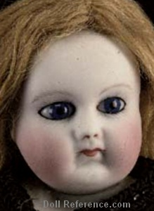 Madame Rohmer Poup�e de Mode doll head 1865