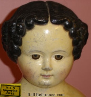 "M & S Superior papier mache doll 29"", mold 2015"