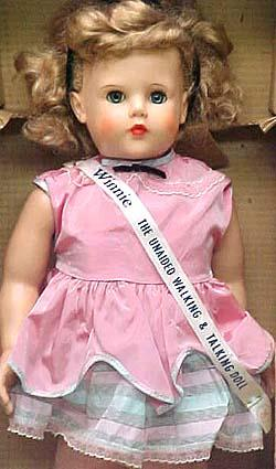 1954-1955 Advance Winnie Walking doll, 24""