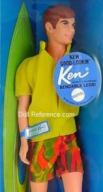 1124 Ken Doll Bendable Leg (1970) New Good Lookin' Ken
