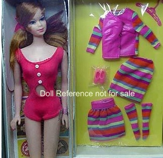 1545 Stacey doll - Stripes Are Happening 1968 giftset