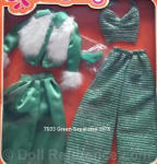 7933 Barbie Green separates set 1975