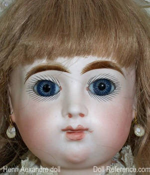 "Henri Alexandre antique French doll face, 23"" tall"