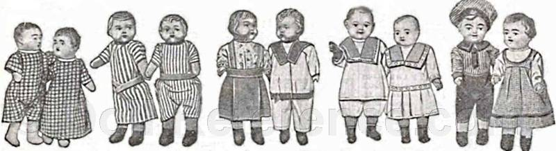 1918 Butler Brothers character dolls advertisement