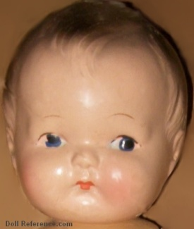 "ca. 1930s Skippy type boy doll, 12 1/2"" maker unknown"