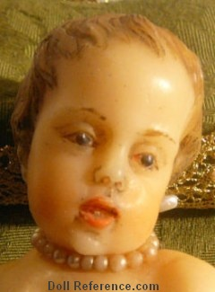 "Italian Creche Wax Jesus Doll 9 1/2"" tall"
