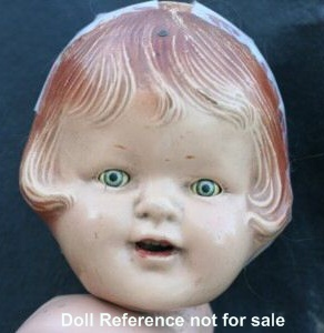 "1930s Eegee, Chikie doll, 17"", Patsy type"
