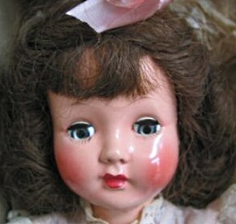 F & B 1950's Honey doll, hard plastic, 16""
