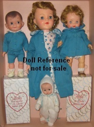 F & B 1957-1959 Most Happy Family dolls gift set