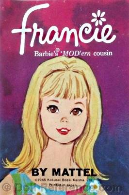 Francie doll 1965 booklet cover graphic