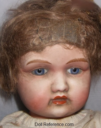 Goss & Company bisque socket head doll, 24""