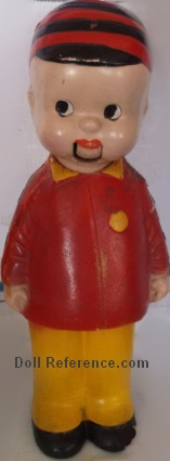"Herby doll, 12"" tall, comic character by Walter Berndt"