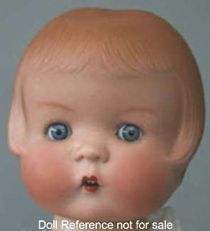 Hertel Schwab & Co, bisque head, mold #127, Patsy type doll