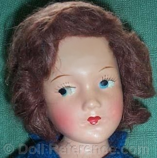 Mary Hoyer doll with painted eyes, composition