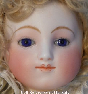 "1870s J Steiner doll face 18"" w/ Motschmann type body"
