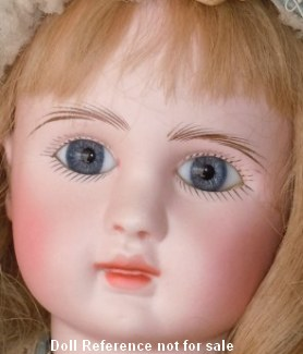 1889 + J Steiner Figure A doll face, 21""