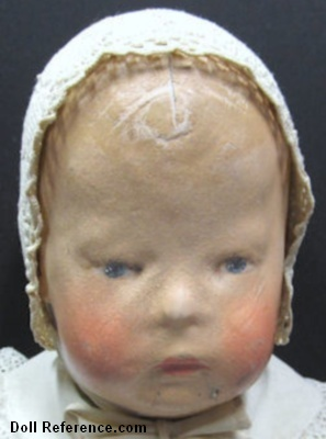 1910 Kathe Kruse cloth Doll I, 16""