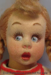 1936 Lenci miniature The Sweeper doll 9 1/2""