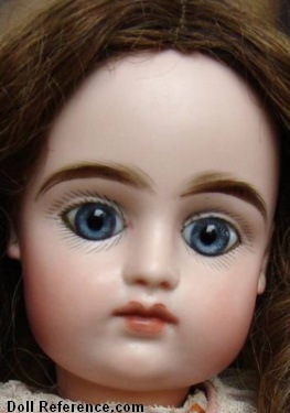 "Pintel & Godchaux bisque head doll 19"" tall"