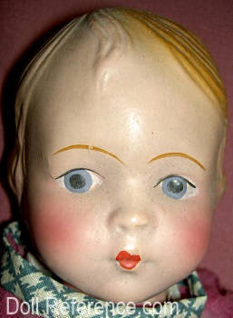 "1930 Regal Kiss Me doll, 12 1/2"" tall"