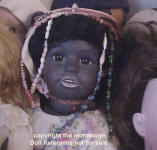 S & H Dolly face, Child black doll mold 1358