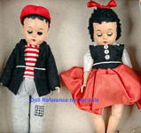 1950s Marcie Sluggo & Nancy dolls, 8""