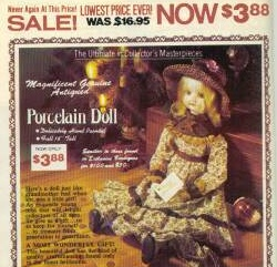 Porcelain doll ad