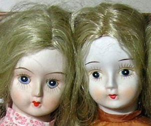 Walda porcelain doll faces 1970's