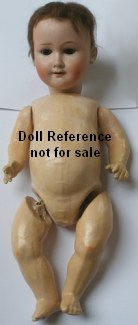 "Walther & Sohn Boy doll, 15"" composition body"