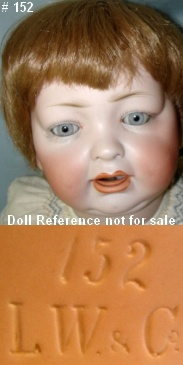 Hertel & Schwab doll mark 152 LW & Co Louis Wolf