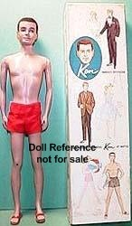 0750 Ken doll flock hair(1961)