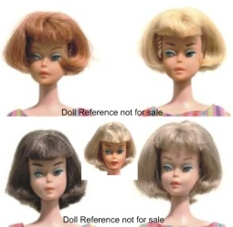 1070 Barbie 1965-1967 with American girl hairstyle
