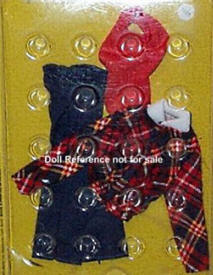 7229 Navy pants, plaid jacket, red dickey 1975