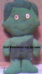 1960's Green Giant Little Sprout cloth doll, 10 1/2""