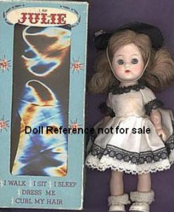 A & H 1955-1957 Julie Walking Doll, 8""