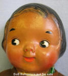 1923 Averill Black Rufus doll, same face mold as the Dolly Dingle doll