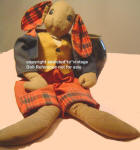 1934 Averill Uncle Wiggily Longears cloth doll 20""