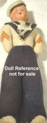 1918 Crackerjack cloth doll