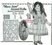 1921 Sears Mary Jane doll ad