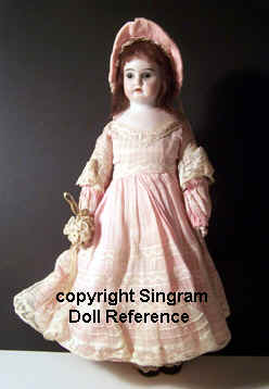 "Eichorn antique bisque head doll, 10"", marked E & S"