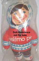 1960s Chase Bag Co Eskimo Pie Boy doll 15""