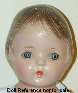 1930s Averill Blossom Peaches doll, 14""