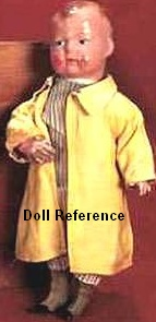 Advertising doll; 1914 Ideal Uneeda Kid doll, 14""