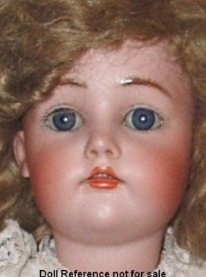 "Pre-1909 Dolly Face doll, 25"" tall, K & R with no mold"