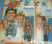 1977 CHiPs Ponch & Jon dolls, 8""