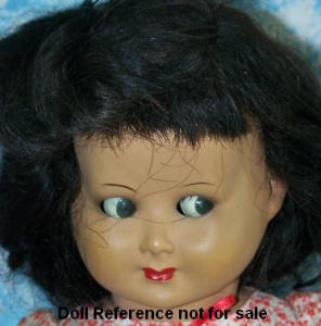 Ottolini flrity eye doll 18""