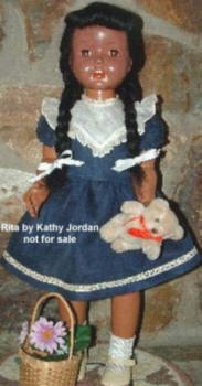 1952 Paris Rita Walker black doll, 24""
