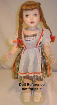 1951 Paris Rita doll, 28""